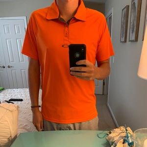 Oakley Men's Large orange golf shirt